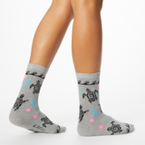 K. Bell Women's Tribal Turtles Crew Socks
