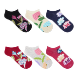 K. Bell Women's Botanical Florals Ankle Socks Six Pair Pack