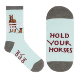 K. Bell Women's Hold Your Horses Crew Socks