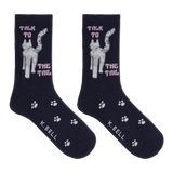 K. Bell Women's Talk To The Tail Crew Socks