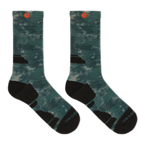Merrell Tonal Forest Printed Performance Crew Socks