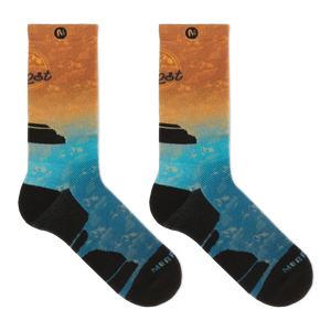 Merrell Tonal Printed Performance Crew Socks
