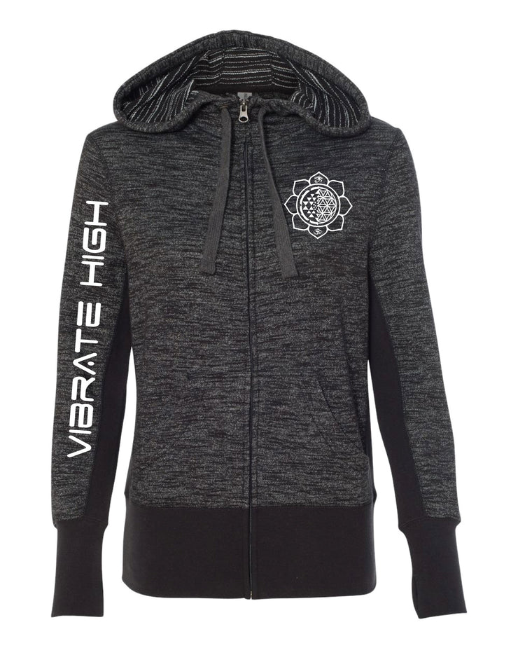 Vibrate High - Womans Zip Up Hoodie