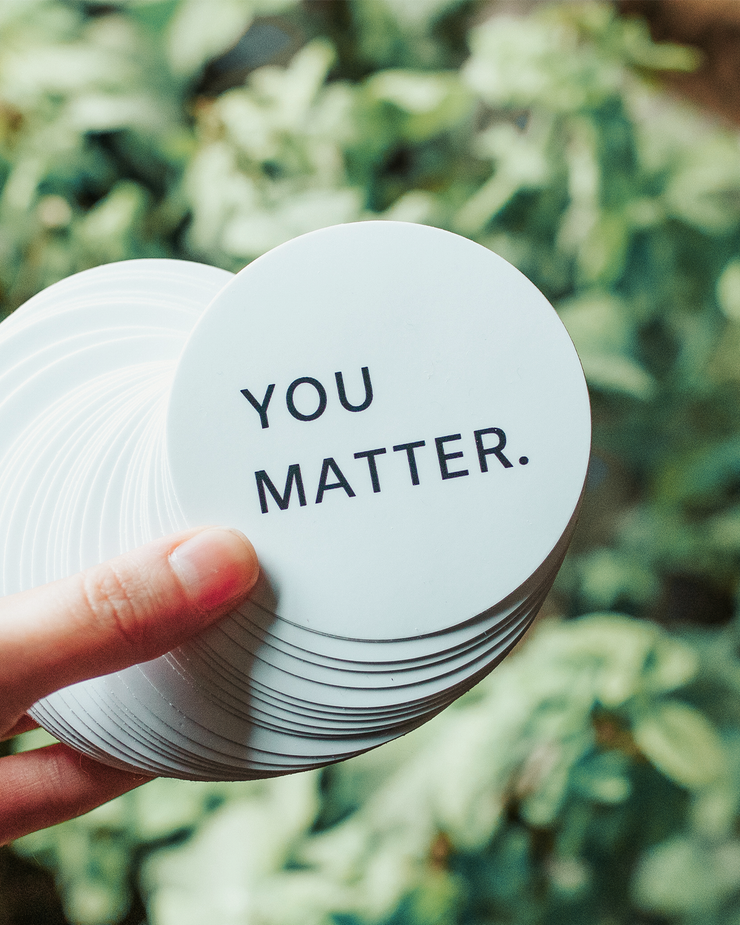 You Matter Sticker White