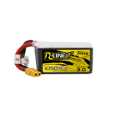 Tattu R-Line Version 3.0 1050MAH 22.2V 6S 120C LIPO BATTERY XT60