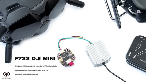 MAMBA F722 MINI DJI F35 3-6S FLIGHT CONTROLLER STACK
