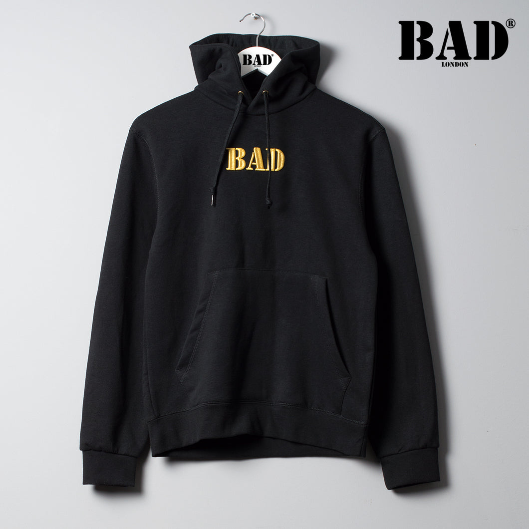 BAD LONDON Apparel Designer Couture Street Fashion Black Hoodie