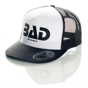 BAD CLOTHING LONDON COUTURE FASHION PREMIUM STREET WEAR AND SPORTS FITNESS ATHLETICS APPAREL TRUCKER SNAPBACK