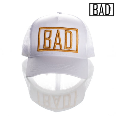 BAD COUTURE HAT COLLECTION CLOTHING LONDON FASHION PREMIUM STREET WEAR AND SPORTS FITNESS ATHLETICS APPAREL TRUCKER SNAPBACK