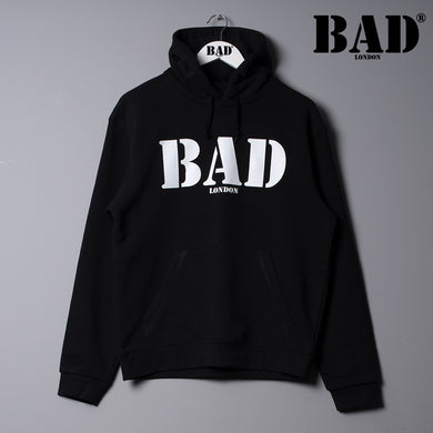 BAD Hoodie London Clothing Designer Couture Street Fashion Black Hoodie
