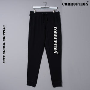 Corruption Clothing Global  Joggers London Designer Sports Fitness Athletics Fashion Brand