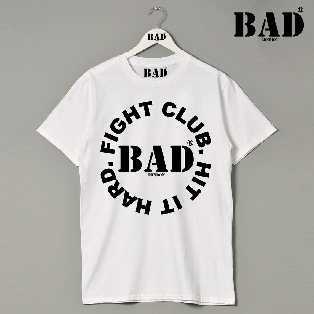 Hit It Hard Apparel BAD Fight Club Athletics London Designer Couture Premium T Shirt
