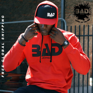 BAD LONDON Clothing Designer Street fashion Red Hoodie