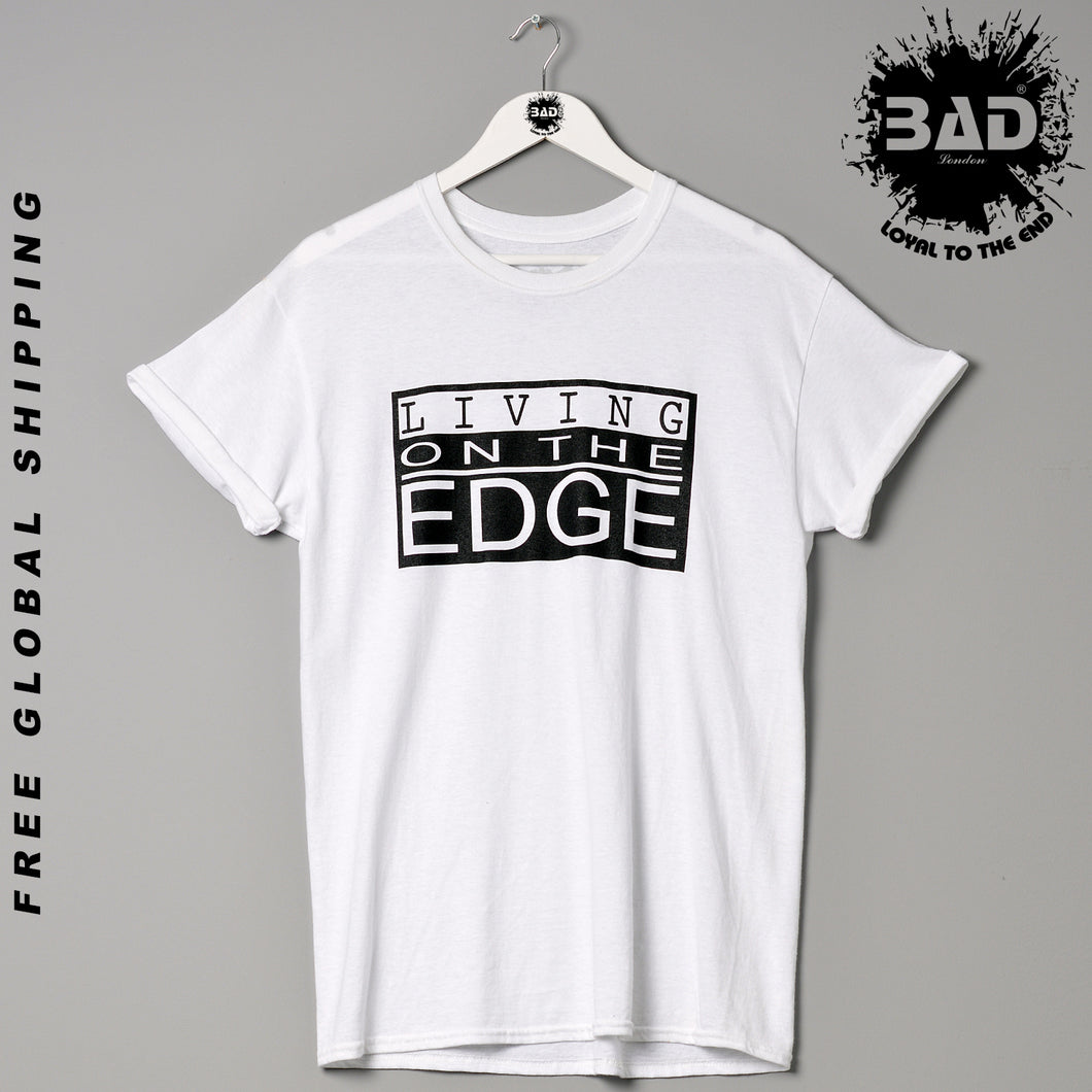 Living On The Edge Clothing London Designer Couture Premium Fashion T Shirt