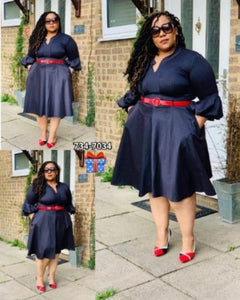 Gondvana Navy & Red Striped Dress