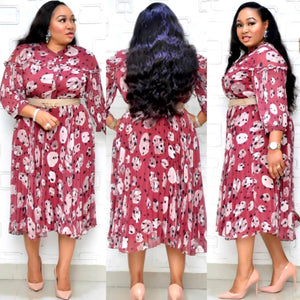 NZRLINE Maroon Floral Dress