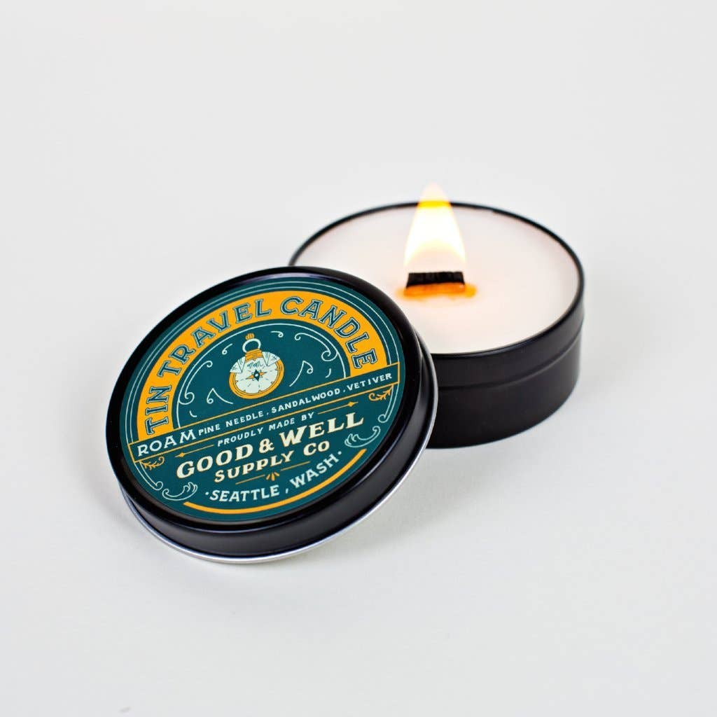 Tin Travel candle Sandalwood from Good & Wl Supply Co