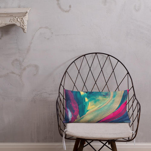 bright colorful throw pillow