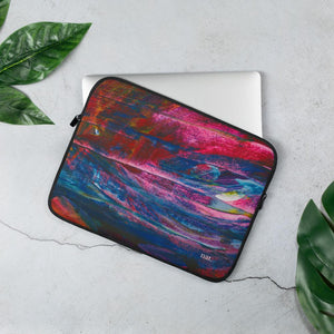 emerging laptop sleeve - nat. live in art