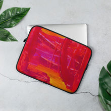 Load image into Gallery viewer, nat. strengthening laptop sleeve - nat. live in art