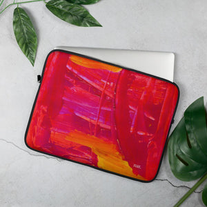 nat. strengthening laptop sleeve - nat. live in art