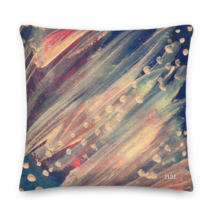 XL Cushion 'dotting' - nat. live in art