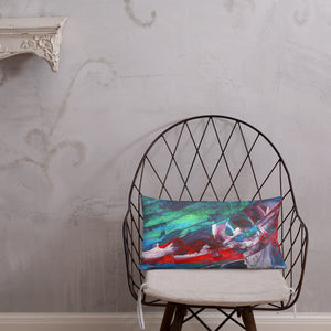 Wide Cushion 'El Medano kitesurfing' - nat. live in art
