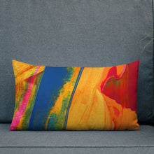 Load image into Gallery viewer, Wide Cushion 'Bananas in Bali' - nat. live in art