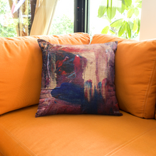 Load image into Gallery viewer, Regular Cushion 'anticipating' - nat. live in art
