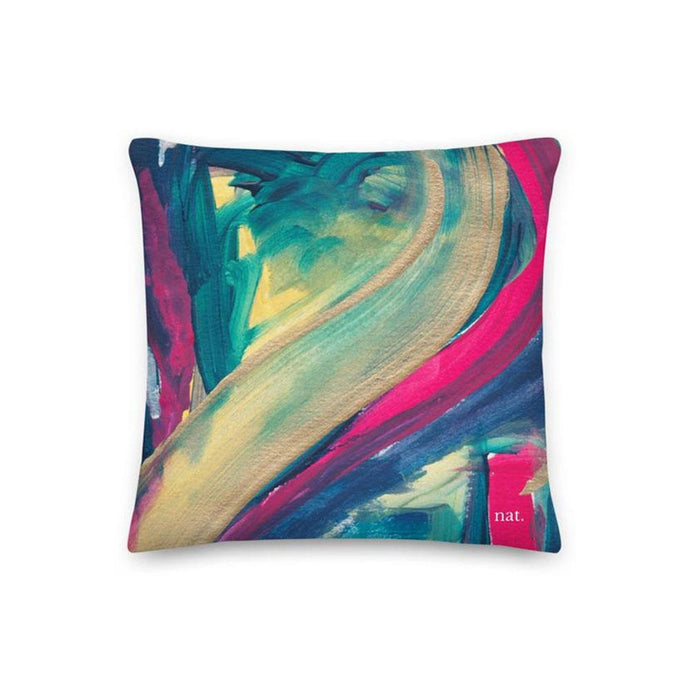 Regular Cushion 'mingling' - nat. live in art