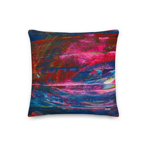 Regular Cushion 'emerging' - nat. live in art