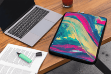 Load image into Gallery viewer, Laptop Sleeve 'mingling' - nat. live in art