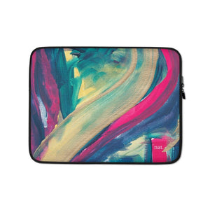 Laptop Sleeve 'mingling' - nat. live in art