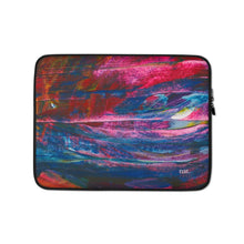 Load image into Gallery viewer, emerging laptop sleeve - nat. live in art
