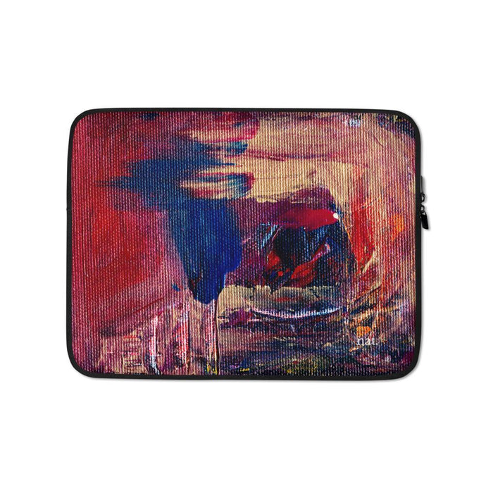 Laptop Sleeve 'anticipating' - nat. live in art