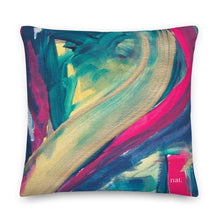 Load image into Gallery viewer, XL Cushion 'mingling' - nat. live in art