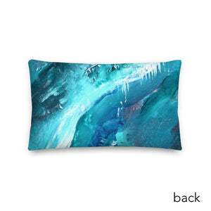 Wide Cushion 'icing' - nat. live in art