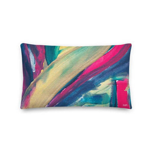 Wide Cushion 'mingling' - nat. live in art