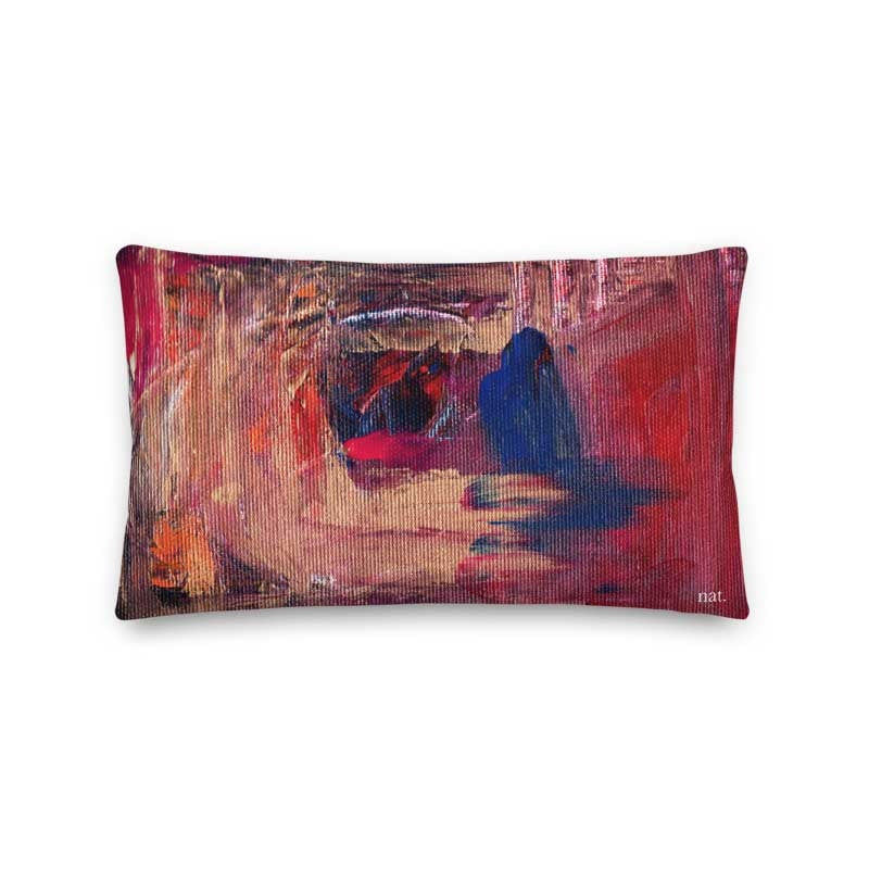 Wide Cushion 'anticipating' - nat. live in art