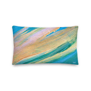 Wide Cushion 'golding' - nat. live in art