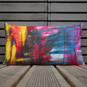 Wide Cushion 'Hintertux' - nat. live in art