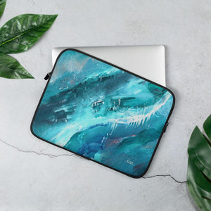 Laptop Sleeve 'icing' - nat. live in art
