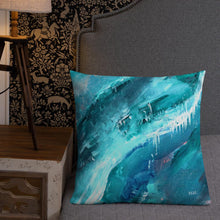Load image into Gallery viewer, XL Cushion 'icing' - nat. live in art