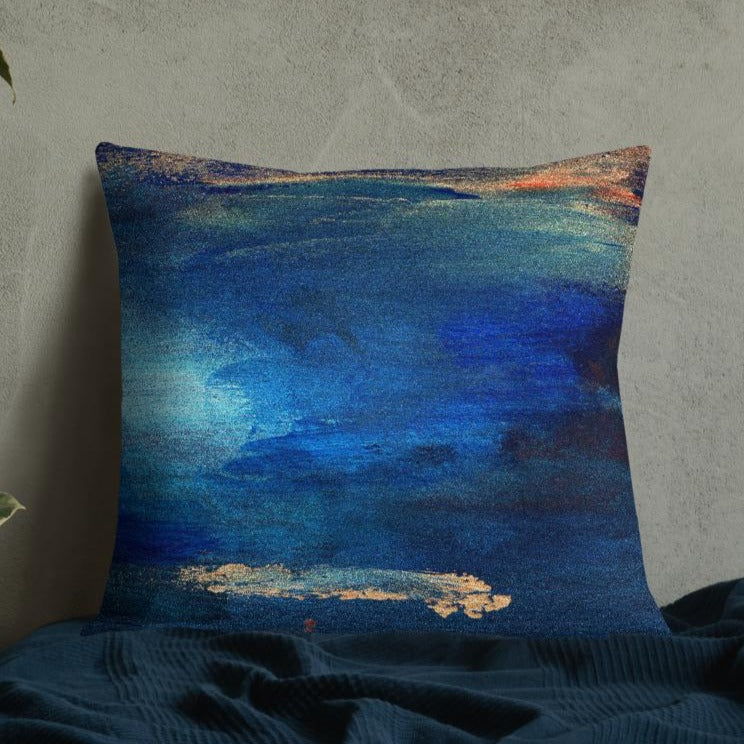 seacaving XL cushion - nat. live in art