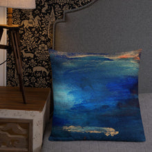 Load image into Gallery viewer, seacaving XL cushion - nat. live in art