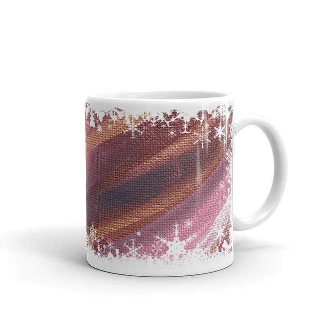 festive mug 'listening' - nat. live in art