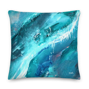 XL Cushion 'icing' - nat. live in art