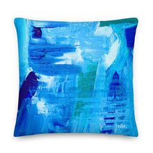 Load image into Gallery viewer, XL Cushion 'surfing' - nat. live in art