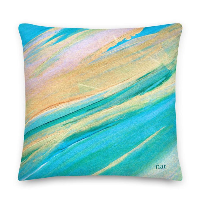 XL Cushion 'golding' - nat. live in art