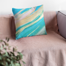 Load image into Gallery viewer, nat. golding reg. cushion - nat. live in art